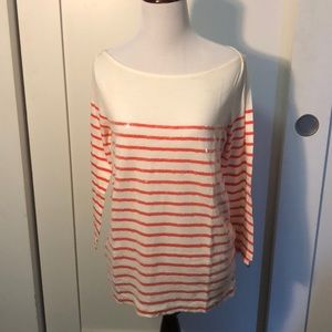 J. CREW NAUTICAL TOP. RED/GLITTERS